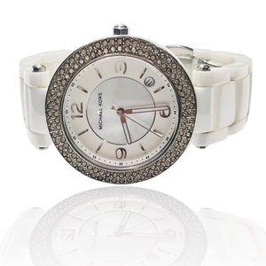 MICHAEL KORS White Ceramic Crystal Watch MK5308
